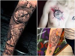Tatuaz Kompas 24 Inspirujacych Wzorow Etatuator Pl