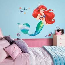 Amazon Com Disney The Little Mermaid Giant Peel And Stick Wall Decals Home Kitchen