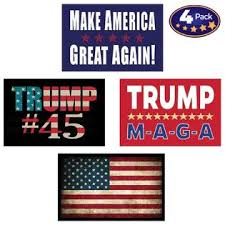 America First Pro Trump Amp American Flag Hard Hat Amp Helmet Stickers 4 Decal Value Pack Great For A Motorcycle Biker