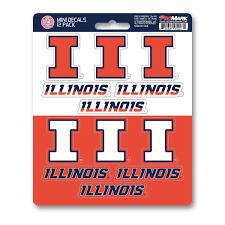 Illinois Mini Decal 12 Pk Fanmats Sports Licensing Solutions Llc