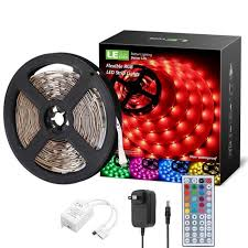 le rgb led strip lights kit 16 4ft 12v