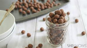 homemade chocolate cereal puffs that