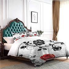 Amazon.com: KaMiao Pillowcase Bedding Floral Rose Swirl Ivy King ...