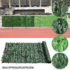Artificial Green Outdoor Faux Plant Ivy Leaf Privacy Screen Fence Garden Yard Shopee Philippines