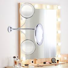 360 degree rotation makeup mirror led