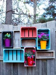 wall mounted wooden crates