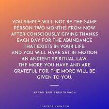 love and gratitude quotes josie robinson