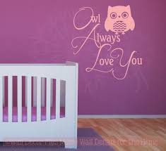 Owl Always Love You Tree Branch Nursery Bedroom Quote Vinyl Wall Decal Sticker