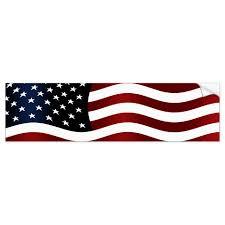 American Flag Bumper Sticker Zazzle Com