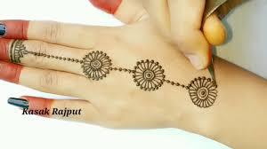 easy mehndi design back side hand