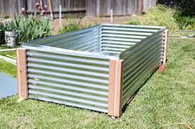 how to build a metal raised garden bed