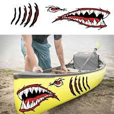 2pcs Large Vinyl Shark Teeth Mouth Eyes Gill Sticker Decals Kayak Boat Fishing Dinghy Motorcycle Car Bumper Graphics Accessories Kayak Boat Boat Kayakboat Dinghy Aliexpress