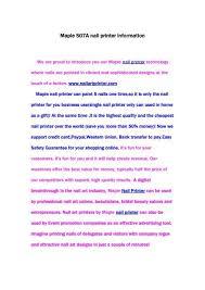 maple s07a nail printer information
