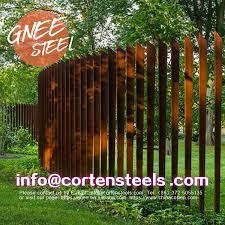 Corten Steel Panel Fence Corten Steel Weathering Steel Steel Panels