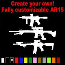 Customized Ar15 Ar 15 Vinyl Decal Sticker Rifle Ar15 M16 Pistol Sbr Ms 029 Ebay