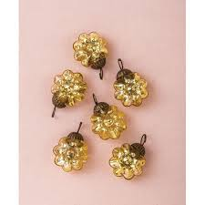 mini holiday mercury glass ornaments