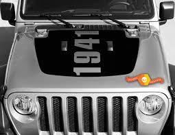 Jeep Gladiator Side Jt Wrangler Jl Jlu Hood The Mountains Vinyl Decal Sticker