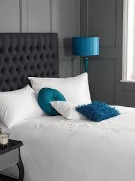 excellent grey teal bedroom