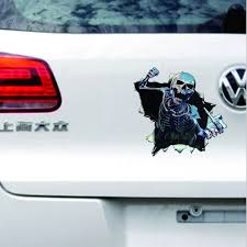 New Funny Car Sticker Skull Car Hoods Trunk Thriller Rear Window Decal Car Decal Covers Waterproof