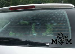 Dog Mom Car Decal Van Decal Funny By Rusty Cowgirl Glitter On Zibbet