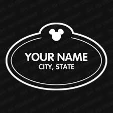 Disney Custom Cast Member Badge Vinyl Decal The Stickermart