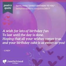 happy birthday poems and wishes