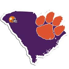 Clemson Tigers Ncaa Home State Decal By Siskiyou