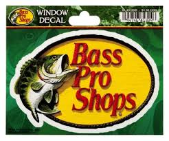 Bass Pro Shops Die Cut Vinyl Bass Pro Shops Small Window Decal Bass Pro Shops