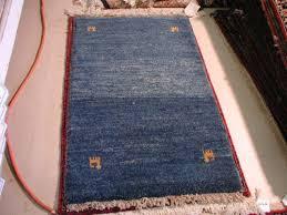 blue and blue gabbeh modern persian rug