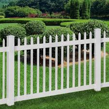 Wambam Fence No Dig Permanent 4 Ft X 6 Ft Nantucket Vinyl Picket Fence Panel With Post And Anchor Kit Bl1 In 2020 Vinyl Picket Fence Garden Shed Diy Front Yard Decor