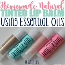 diy all natural tinted lip balm every