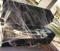 thieves steal homemade coffin skeleton