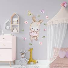 Nursery Bunny Decal Ballerina Bunny Art Bunny Wall Decal Baby Girl Bal Kidscutedecorations