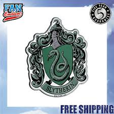 Harry Potter Domed Chrome Car Decal Slytherin Crest Ebay