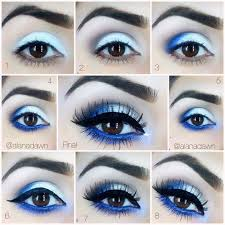 homeing makeup for a light blue