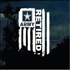 Retired Army Weathered Flag Military Window Decal Stickers Custom Sticker Shop