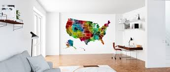 Usa Watercolor Map High Quality Wall Murals With Free Us Delivery Photowall