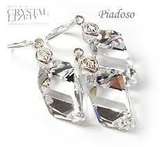 swarovski crystals earrings pendant