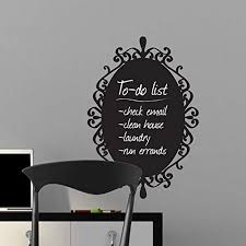Amazon Com Majiae Wall Decal Removable Quote Decor Design Decal Chalkboard To Do List Check Email Clean House Laundry Home Kitchen