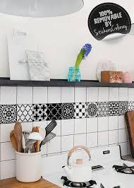 Ceramic Tiles Backsplash Tile Decal Tradiconal Pack Of 24 Black And White Wall Decal Spanish Tile Stickers Aged Tiles Moroccan 45t Tile Decals Tile Backsplash Tiles