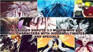 Bleach Vs Naruto 3.3 Mugen Mod Apk - All Characters(All Hidden ...