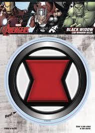 Jul168677 Marvel Avengers Black Widow Logo Vinyl Decal Previews World