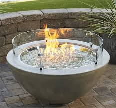 gas fire pit round wind guards