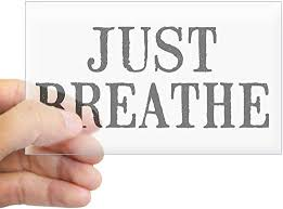 Amazon Com Cafepress Just Breathe Rectangle Bumper Sticker Car Decal Home Kitchen