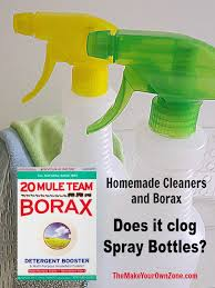 borax and spray bottles