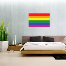 Gay Pride Rainbow Flag Wall Decal Large Vinyl Sticker 24 X 16 Ebay