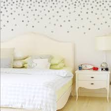 120 Gold Or Silver Dots Metallic Wall Decals 2 Polka Dot Decals Vin