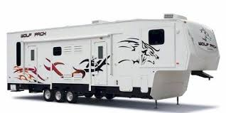 wolf pack toy hauler fifth wheel