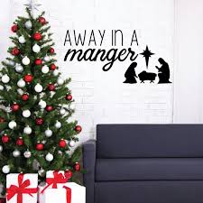 Christmas Wall Decal Away Vinyl Decor Wall Decal Customvinyldecor Com