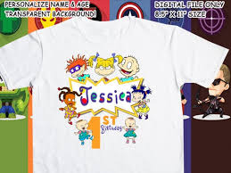 Rugrats Printable Iron On Transfer Custom Personalized T Shirt Decal Design Digital File Perso Rugrats Personalized T Shirts T Shirt Transfers